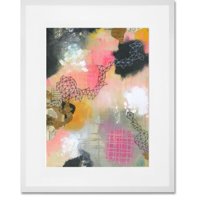 'New Beginnings 3' Framed Acrylic Painting Print Format: White Frame, Size: 15