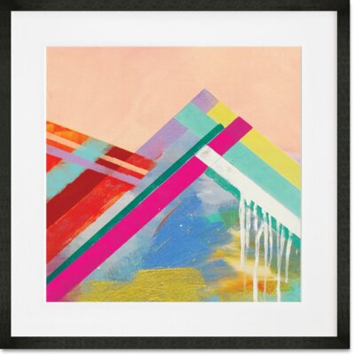 'Step Name Love' Framed Acrylic Painting Print Format: Black Frame, Size: 14