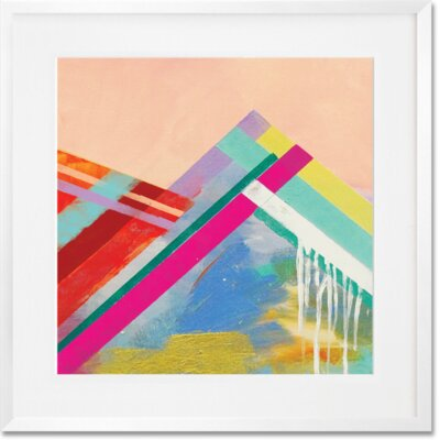 'Step Name Love' Framed Acrylic Painting Print Format: White Frame, Size: 20