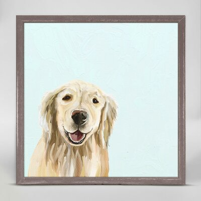 'Best Friend - Blonde Retriever' Framed Acrylic Painting Print