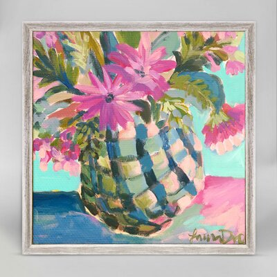 'Floral Pineapple' Acrylic Painting Print