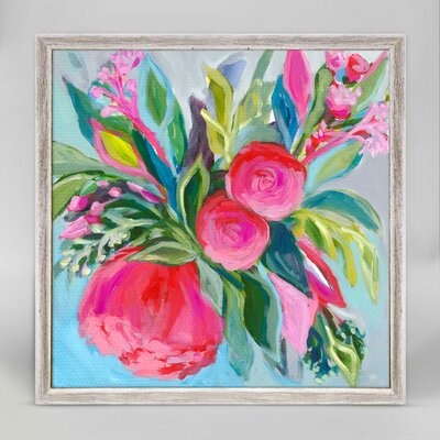 'Bold and Bright Florals III' Framed Acrylic Painting Print