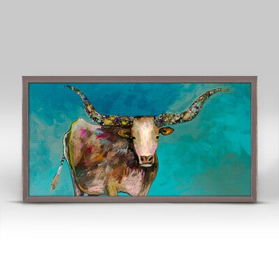 'Longhorn Geode with Tail' Acrylic Painting Print Size: 5