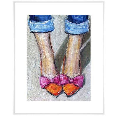 'Bows Toes Shoes' Acrylic Painting Print Size: 12.5