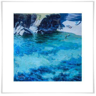 'Deep Blue Water' Acrylic Painting Print Size: 11.5