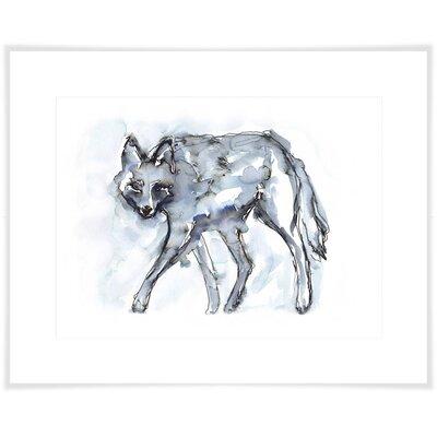 'Indigo Coyote' Acrylic Painting Print Size: 10.5