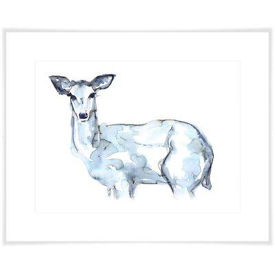 'Indigo Deer' Acrylic Painting Print Size: 10.5