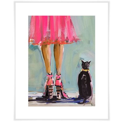 'Kitten and Heels' Acrylic Painting Print Size: 12.5