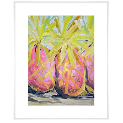 'Tropical Pineapples' Acrylic Painting Print Size: 12.5