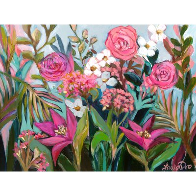 'Floral Fancy' Acrylic Painting Print Size: 10