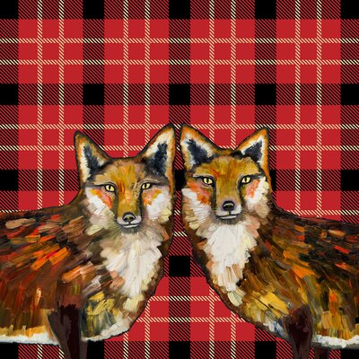 'Tartan - Fox Duo' Graphic Art Print