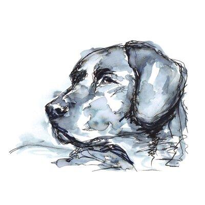 'Indigo Labrador' Acrylic Painting Print Size: 10