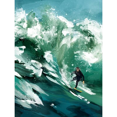 'Just Surfing' Acrylic Painting Print Size: 14