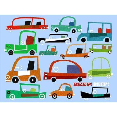 "Beep Beep Automobiles Canvas Art Size: 18"" H x 24"" W x 1.5"" D NB16443"