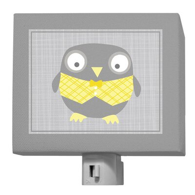 Happy Owl Night Light Color: Gray / Yellow