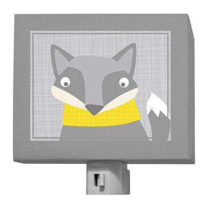 Happy Fox Night Light Color: Gray / Yellow