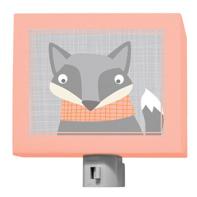 Happy Fox Night Light Color: Multi