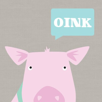 Oink - Pig Canvas Art NB15817