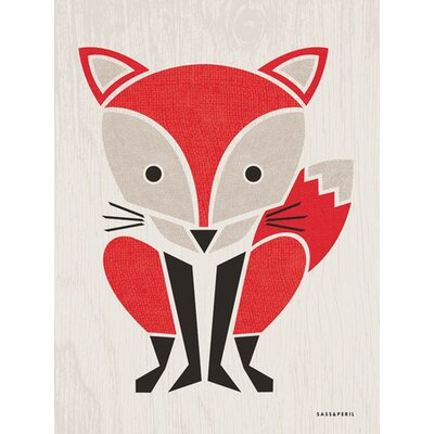 Modern Animals Red Fox Canvas Art Size: 14