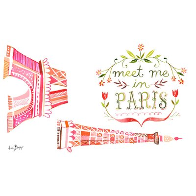 Meet Me In Paris Peel and Place Wall Decal NB16040