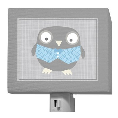 Happy Owl Night Light Color: Gray / Blue