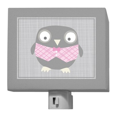 Happy Owl Night Light Color: Gray / Pink