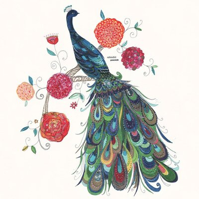 Oopsy Daisy Painted Peacock Canvas Art NB15625