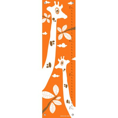 Googly Eyed Giraffe Growth Chart Color: Orange NB15636