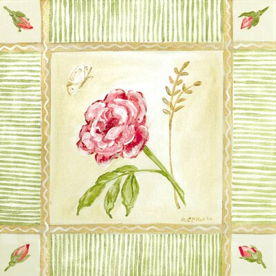 Cottage Rose - Left Leaning Canvas Art PE0742