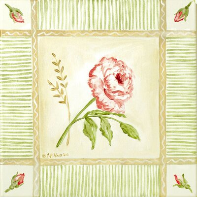 Cottage Rose Right Leaning Canvas Art PE0744