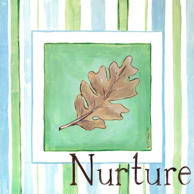 Nurture Leaf Canvas Art Size: 30