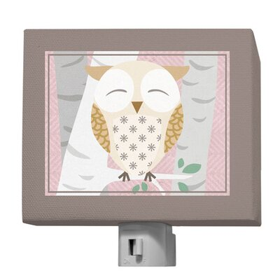 Birchwood Owl Night Light Color: Pink