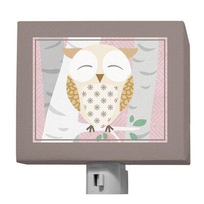 Birchwood Owl Night Light Color: Pink