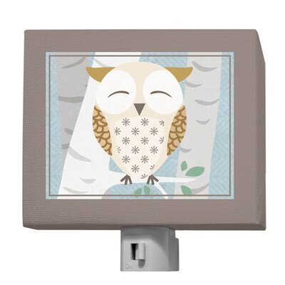 Birchwood Owl Night Light Color: Blue