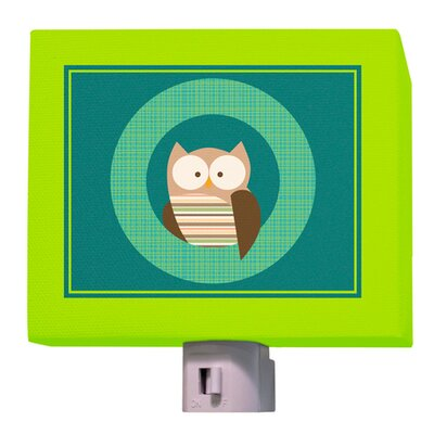 Hoot the Owl Night Light Color: Green