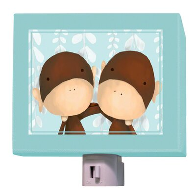Two of a Kind Night Light Color: Powder Blue