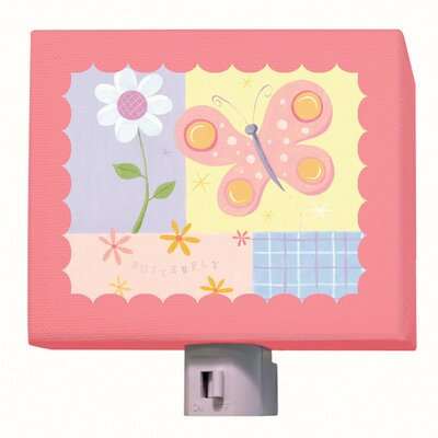 Butterfly Plaid Night Light
