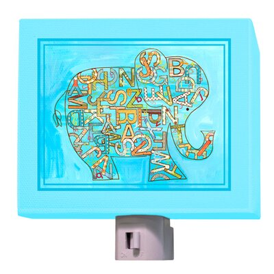 Alphabet Elephant Night Light