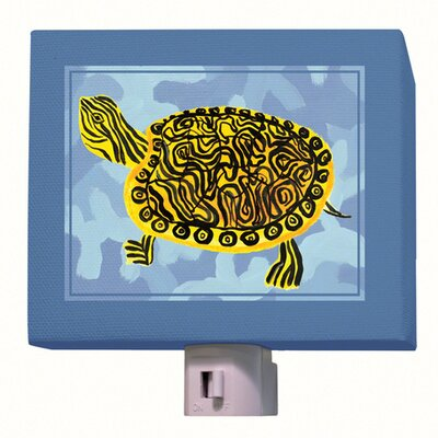 Blue Camo Turtle Night Light
