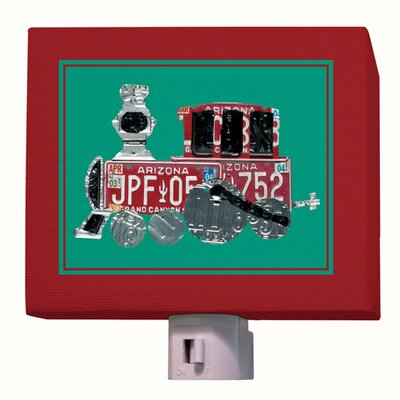 License Plate Choo Choo Train Night Light