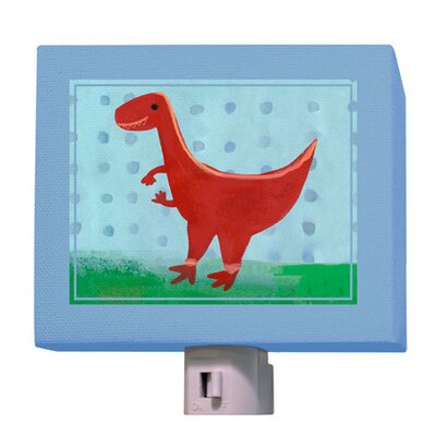 Red Velociraptor Night Light
