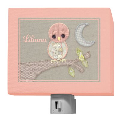 Vintage Baby Owl by Kristen White Personalized Night Light