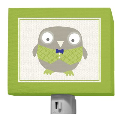 Happy Owl by Vicky Barone Night Light Color: Green/Navy