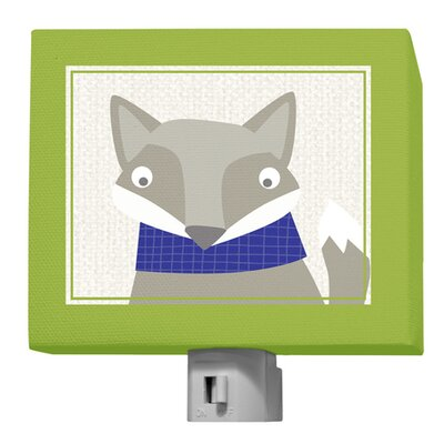 Happy Fox by Vicky Barone Night Light Color: Green/Navy