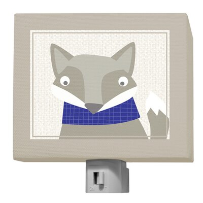 Happy Fox by Vicky Barone Night Light Color: Pink/Navy