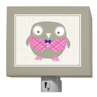 Happy Owl by Vicky Barone Night Light Color: Pink/Navy