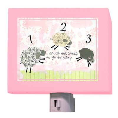 Counting Sheep Night Light Color: Pink