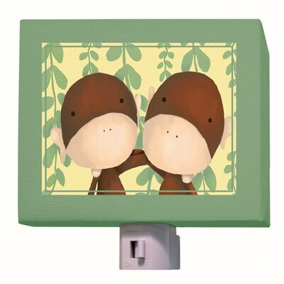 Two of a Kind Night Light Color: Green