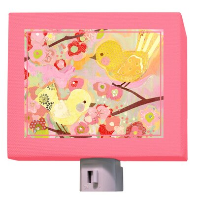 Cherry Blossom Birdies Night Light Color: Pink/Yellow