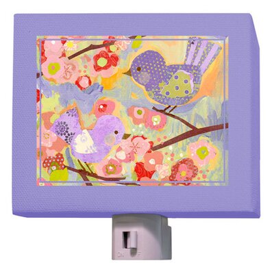Cherry Blossom Birdies Night Light Color: Lavender/Coral